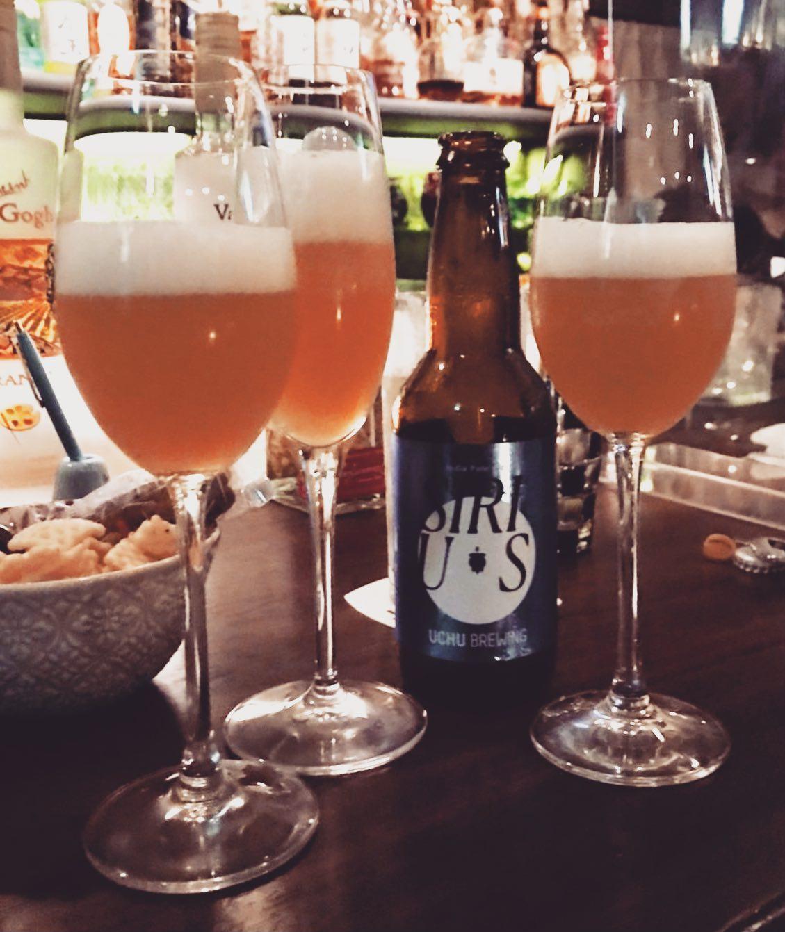 うちゅうブルーイングUCHU BREWINGのSIRIUS / シリウスお土産に頂きましたー初めての驚きの味わい!なんてフルーティな薰りとコクなんだろービールが苦手な私だけど、これは違うーー!普通のビール以上、ワイン未満のちょうど良い重さ加減なのよね感動しちゃいました!また飲みたいぞーありがとうございました#カフェバー #Cafebar#心地よい空間 #金沢片町 #楽しいひと時を #るたん#letemps #Letemps#CafeBAR_Le_temps#カフェバー_るたん#おひとり様でも#犀川沿いの夜景#景色が良い #お酒と音楽が楽しめる#歌えるカフェバー#感染対策#うちゅうブルーイング#uchubrewing#sirius#シリウス#フルーティー#クラフトビール#静岡出身です#猫好きです#感染対策強化#いしかわ新型コロナ対策認証店 - 金沢片町るたん